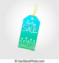 Spring sale tag 02