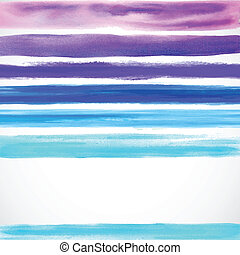 Watercolor color background with some stripes - Watercolor...