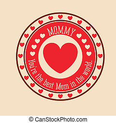 Mothers day design over background, vector illustration