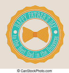 Fathers day design - Fathers day design over beige...