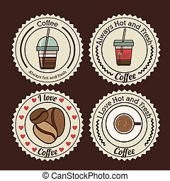 Coffee design over background, vector illustration