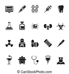 Medicine and hospital icons