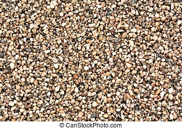 Gravel as a building material in a gravel pit