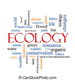 Ecology Word Cloud Concept