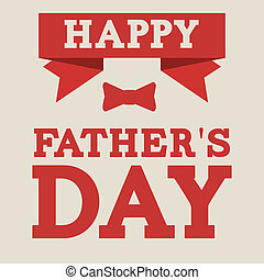Fathers day design over beige background, vector...