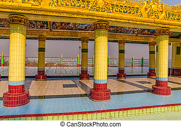 Mandalay hill pathway - Inscriptions and drawings of the...