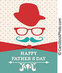 Fathers day design - Fathers day card design, vector...