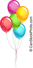 Party ballons bunch with ribbon, eps10 illustration make...