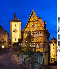 Rothenburg ob der Tauber by night - Beautiful view by night...
