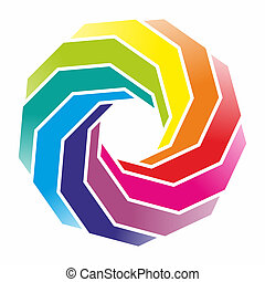 form - decorative and colorful element with twisted forms