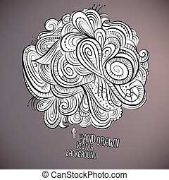 Vector floral abstract hand drawn design