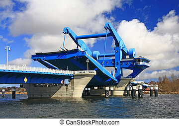 Lift Bridge at Wolgast, Baltic Sea, Germany - Lift Bridge at...