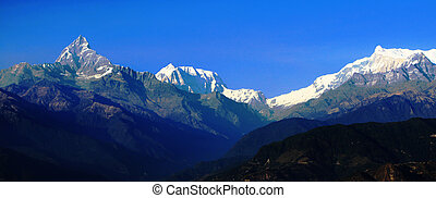Himalaya ridge - View of Himalaya ridge fron Nagarkot