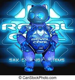 Toon Robot - 3D Render of an Toon Robot