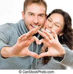 Paar, weißes, Freigestellt, hintergrund,  Valentine