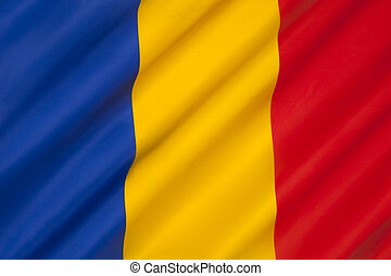 Flag of Romania - The national flag of Romania. The flag is...