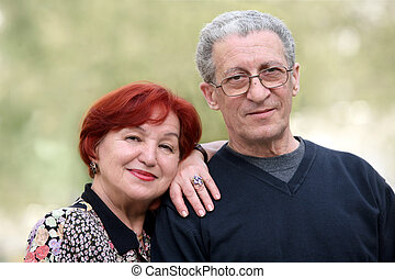 Senior couple - Portrait of a happy couple in their...