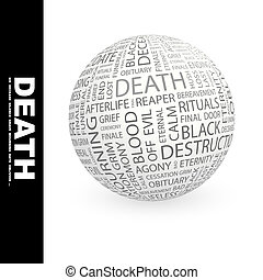 DEATH Word cloud concept illustration Wordcloud collage