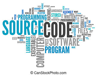 Word Cloud Source Code - Word Cloud with Source Code related...