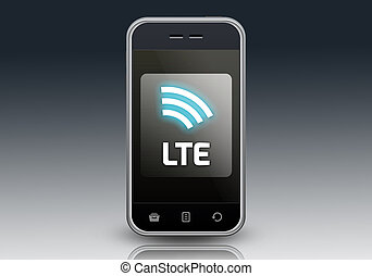 Smartphone LTE - Smartphone with LTE wording