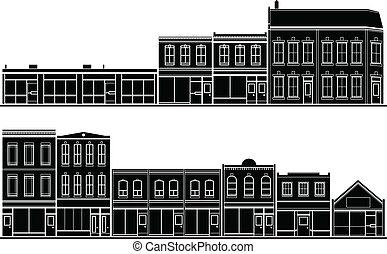 Streetscape Buildings - A collection of building facade...
