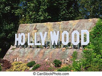 """Hollywood Sign Klagenfurt. Miniature Park """"Minimundus""""...."""