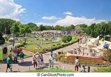 """Klagenfurt. Miniature Park """"Minimundus"""". Austria - resort..."""