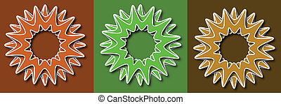 Spring flower retro vector illustration