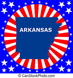 map of the US state of Arkansas