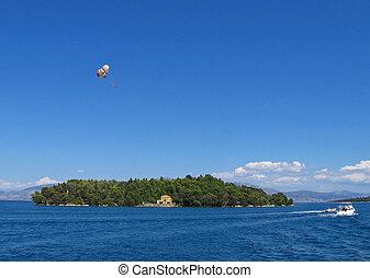Lefkada, Madouri 2 - Little island of greek poet Aristotelis...