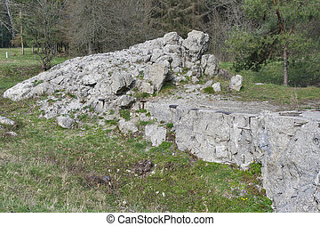Remains of Adolf Hitler residence Werwolf - Concrete ruins...