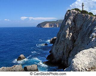 Lefkada, lighthouse 2 - Lefkada, lighthouse