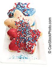 patriótico, rosquillas