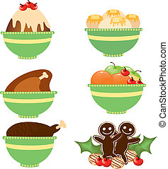 Christmas dinner 1 - Is a EPS 10 Illustrator file without...