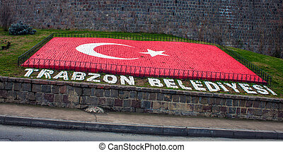 Turkish flag in Trabzon, Turkey