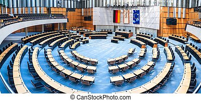 State parliament in Berlin - Interior of state parliament...