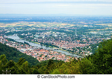 Aerial view of Heidelberg