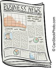 Business Newspaper - A cartoon business newspaper.