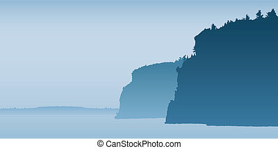 Bon Echo Cliffs - Cliffs of rock in Bon Echo park, Ontario