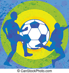 Colorful soccer background
