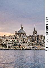 Valletta seafront skyline view, Malta - Valletta seafront...