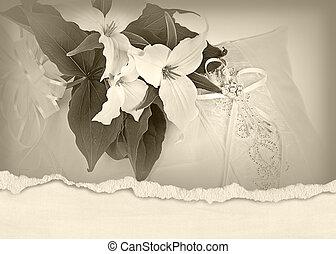 trillium wedding bouquet