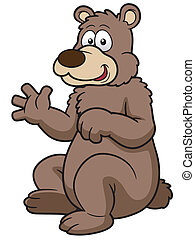 Cartoon bear - Vector illustration of Cartoon brown bear