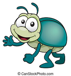 Cartoon bug - Vector illustration of cartoon bug