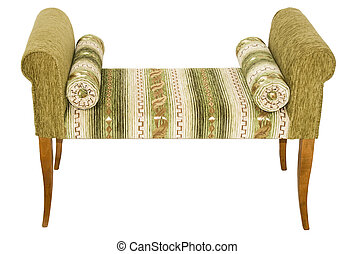 Banquette - A banquette isolated on a white background