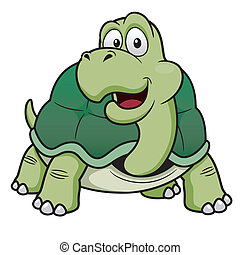 Cartoon turtle - Vector illustration of Cartoon turtle