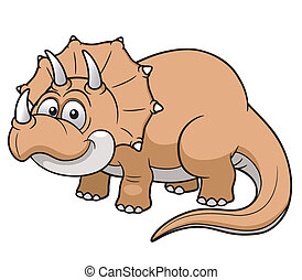Cartoon dinosaur - Vector illustration of Cartoon dinosaur