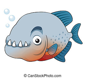 Piranha fish - Vector illustration of piranha fish