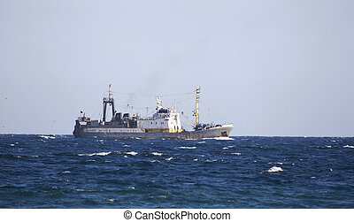 Fishing trawler - Fishing trawler on the water of Black sea...