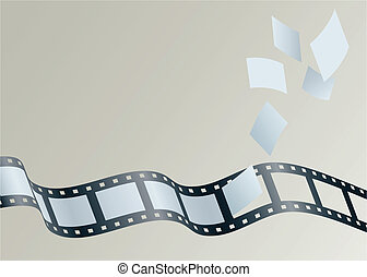 Film Strip - Illustration of frames float away from a strip...